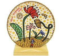 Kusama Yayoi Art plate(FLOWERS)