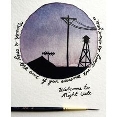 "thehesitantartist: ""Another Night Vale quote, they pair very well with the composition  """