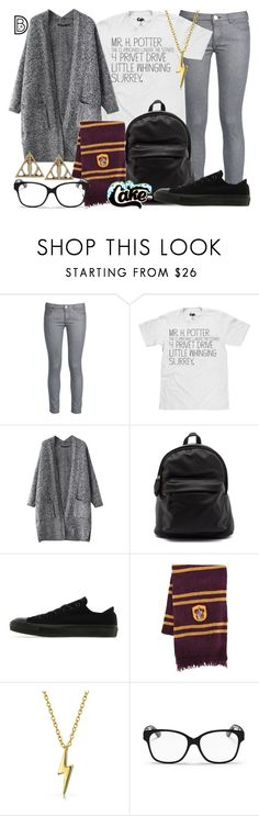 """""""Mr. Harry Potter"""" by leslieakay ❤ liked on Polyvore featuring George J. Love, Converse, Bling Jewelry, Christian Dior and harrypotter"""