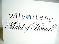 Will You Be My Maid of Honor Card by lilcubby on Etsy, $3.95