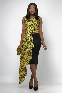Beautiful Ankara styles for the week African Tops, African Dresses For Women, African Print Dresses, African Attire, African Wear, African Fashion Dresses, African Women, Fashion Outfits, African Prints