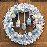 Free Crochet Happy Easter Wreath Pattern
