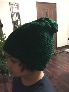 Slouchy crocheted hat for Rob Christmas 2016