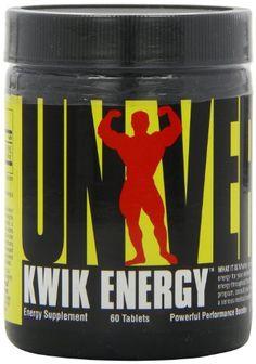Universal Nutrition Kwik Energy 60 Tablets ** Visit the image link more details. (This is an affiliate link) #PostWorkoutNutrition