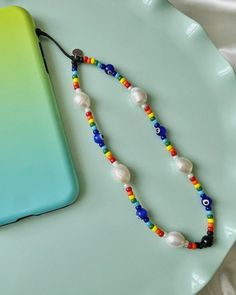 Cute Jewelry, Beaded Jewelry, Fashion Beads, Diy Bracelets Easy, Diy Necklace, How To Make Beads, Jewelry Making, Beads Making, Lanyards