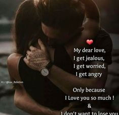 Yes i get jelous and angry and argue with you,but that's because your action tell me something is wrong already. Short Quotes Love, First Love Quotes, Love Picture Quotes, Sweet Love Quotes, Romantic Love Quotes, Besties Quotes, Couples Quotes Love, Girly Quotes, Couple Quotes