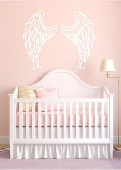 Angel Wings Vinyl Wall Decal.