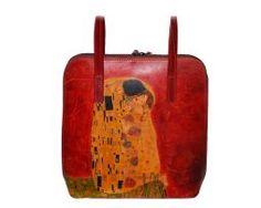 Handmade, rucna malba, hand painted, leathergoods, www.luxusne-doplnky.eu, masterpiece, hand painted leather, gustav klimt, rucne malovana, rucne malovany, malba na kozu Gustav Klimt, The Kiss, Painting Leather, Reusable Tote Bags, Hand Painted, Handmade, Style, Hand Made, Kisses