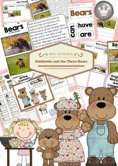 NO PREP 3 Bears unit! LOTS of writing extensions, re-tell and oral language activities plus informational text close reading about BEARS!