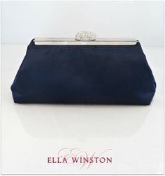 Navy Blue And Platinum Grey Bridesmaid Gift. They by EllaWinston, $59.00