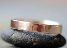 14k gold band, hand forged!