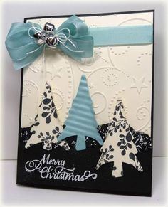 Patterned Christmas trees! So cute! by keri