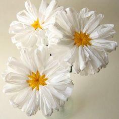 Image result for plastic bag flowers