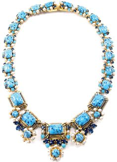 Necklace | Christian Dior.  Circa 1964.  Gold, glass beads, cut crystals and seed pearls.