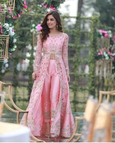 Luxurious Pink Cigarette Pant Suit With Resham WorkYou can find Designer dresses indian and more on our website.Luxurious Pink Cigarette Pant Suit With Resham Work Party Wear Indian Dresses, Indian Gowns Dresses, Indian Bridal Outfits, Indian Fashion Dresses, Dress Indian Style, Pakistani Dresses, Bridal Dresses, Indian Fashion Trends, Party Wear Lehenga