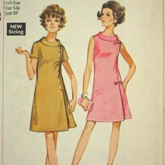 Jiffy Dress Vintage Sewing Pattern 1960s by TangerineToes on Etsy, $15.00