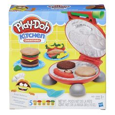 Grill up the fun and have a Play-Doh barbecue! Create outrageous onion rings and even more Play-Doh toppings on the lid of the grill. When the picnic masterpieces are ready, share them and show them off with the plates! Play Doh Knete, Hasbro Play Doh, Burger Party, Barbecue Burgers, Bbq, Hamburgers, Play Doh Colors, Play Doh Kitchen, Little Tikes