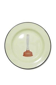 Seletti Wears Toilet Paper Plate - Plunger