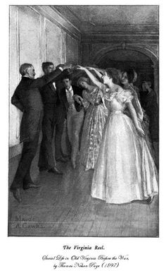The Virginia Reel' – Social Life in Old Virginia before the Wars (by Thomas Nelson Page, Dancing Sketch, Dancing Drawings, Reel Dance, Virginia Reel, History Of Dance, Victorian Life, Victorian Fashion, Florence Art, Vintage Dance