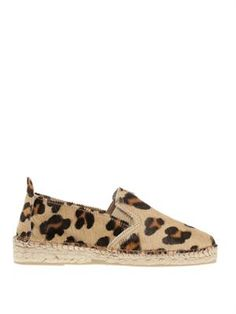 if only these came in size 41!! >> Prism Leopard-print pony hair espadrilles