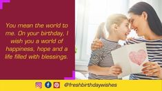 Happy Birthday Mother Images Free Download - Happy Birthday Wishes Happy Birthday Mom Images, Happy Birthday Mother, Mom Birthday Quotes, Special Birthday, Happy Birthday Wishes, Image Mom, Mother Images, Mother Quotes, Words
