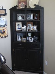 Black Vintage Corner Cabinet 27500 Via Etsy CabinetsChina CabinetProject IdeasDiy ProjectsBasementDining Room