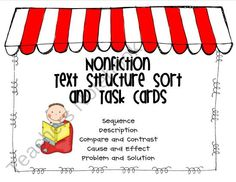 $2. Nonfiction Text Structures Sort and Task Cards product from R-is-for-Reading on TeachersNotebook.com