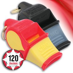 A must for emergency protection, onsite disaster management and search & rescue - also ideal for officiating in large indoor stadiums or outdoor arenas.  Loud and efficient! Extremely easy to blow. Advanced science and technology makes the Sonik Blast CMG Safety Pealess Whistle the most efficient whistle in its class! Precise whistle chamber calibration assures pure frequency performance; less effort, crisper sound.
