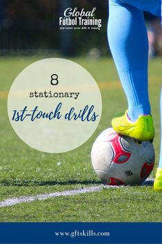 First touch soccer drills are vital to your soccer game. If you want to continue improving as a player, or if you're a coach wanting more training ideas, 1st touch soccer drills are essential. If you think about it, a soccer player receives the ball more