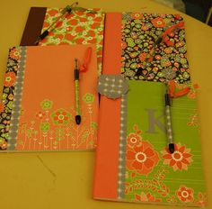 Altered note books - a great gift idea which is quick and easy to do and not too expensive