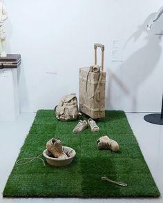 sculpture, Cardboard, paperbox ,종이박스, 골판지, 조각