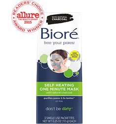 Biore Self Heating One Minute Mask- I absolutely love this mask