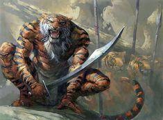 Hombre tigre, de Carl Critchlow