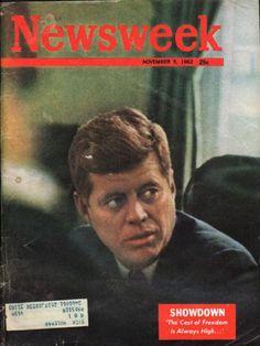 "1962 NEWSWEEK MAGAZINE vintage magazine cover ""Showdown"" ~ November 5, 1962 ~ The Cost of Freedom Is Always High..."" ~"