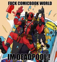 Deadpool 'nuff said Film Deadpool, Deadpool Funny, Marvel Dc, Marvel Comics, Deadpool Pictures, Hood Wallpapers, Comics Love, Spideypool, American Comics