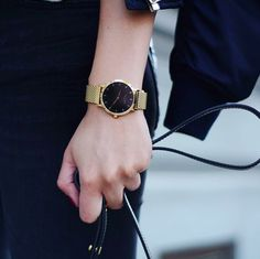 Gold and black perfection ✨ #LW44 www.larsenwatches.com