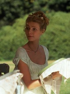 Gwyneth Paltrow as Emma Jane Austen Movies, Emma Jane Austen, Regency Dress, Regency Era, Emma 1996, Emma Woodhouse, Becoming Jane, Cecile, Classic Literature