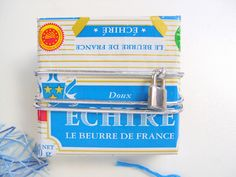 Butter wrapping turns into wrapping paper via Le Paquet