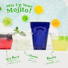 Mix Up Your Mojito.New spin on refreshing classic Red Solo Cup, Mojito, Spin, Shot Glass, Fill, Berries, Hacks, Tableware, Classic