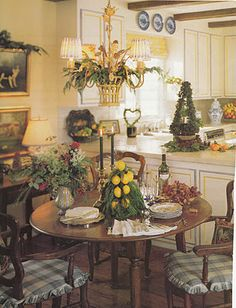 For Nancy....reminds me of your kitchen area ...French Country BREAKFAST ROOM