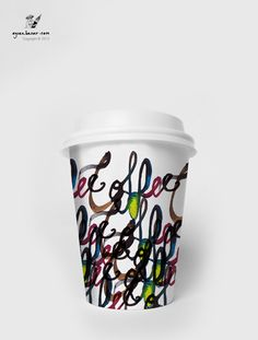 Coffee / Tea Paper Cup Design by Aycan Basar, via Behance