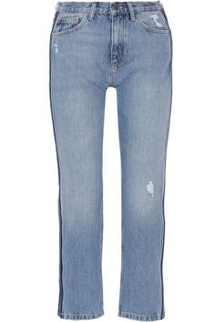 37fa5645589 M.i.h Jeans - Jeanne cropped striped straight-leg jeans