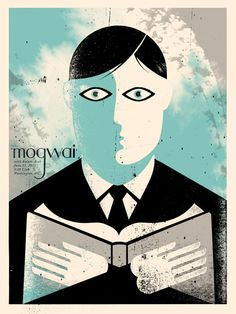 Mogwai poster by Doe Eyed http://jungleindierock.tumblr.com/post/30112273886/mogwai-poster