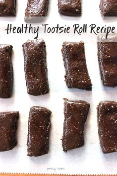 5 ingredient grown-up dark chocolate tootsie rolls!!! Healthy way to enjoy the classic candy! You won't believe what they are made from!!! www.purelytwins.com    Healthysnack   candy   tootsierolls