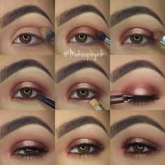 """Nikki Libra on Instagram: """"Step by step using @morphebrushes 35O Palette❤️ The shadows in my crease the neutral shadow on the top row (3rd in from left) I used the matte warm shades and focused that on the outer and inner lid and also under the eye The shimmer on the center of the upper and lower lid is on the 3rd row down 2nd in from left I used @toofaced Glitter Glue to give it a stronger appearance and adhere the glitter texture Lashes are @ardell_lashes Wispies Liner in waterline is…"""