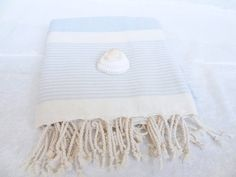 Soft Blue  Bamboo PeshtemalTurkish by OttomanBazaars on Etsy, $32.00 #turkishtowel #bathtowel #beachtowel #spatowel #gifts