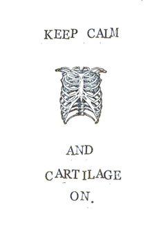 Keep Calm Anatomy & Medical Humor Get Well Card, $3.00