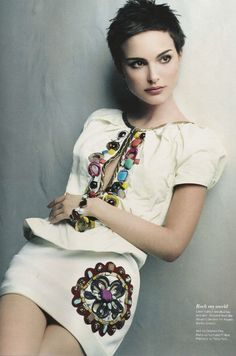 Natalie Portman. She looks gorgeous no matter what style she's sporting at the moment. <3