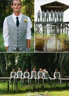 think it looks so nice without the jackets - groom and groomsmen outfits Wedding Groom, Wedding Pics, Wedding Attire, Wedding Bells, Wedding Styles, Our Wedding, Dream Wedding, Wedding Stuff, Wedding Shit