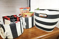 3rd year anniversary idea for him.- the plan.1st basket:morning.card &snacks.2nd basket:lunch.snacks &caffeine.3rd basket:after work.full of his favorite ways to relax.*1 basket for each year of marriage.*add a note in each w/your fav memory of each year